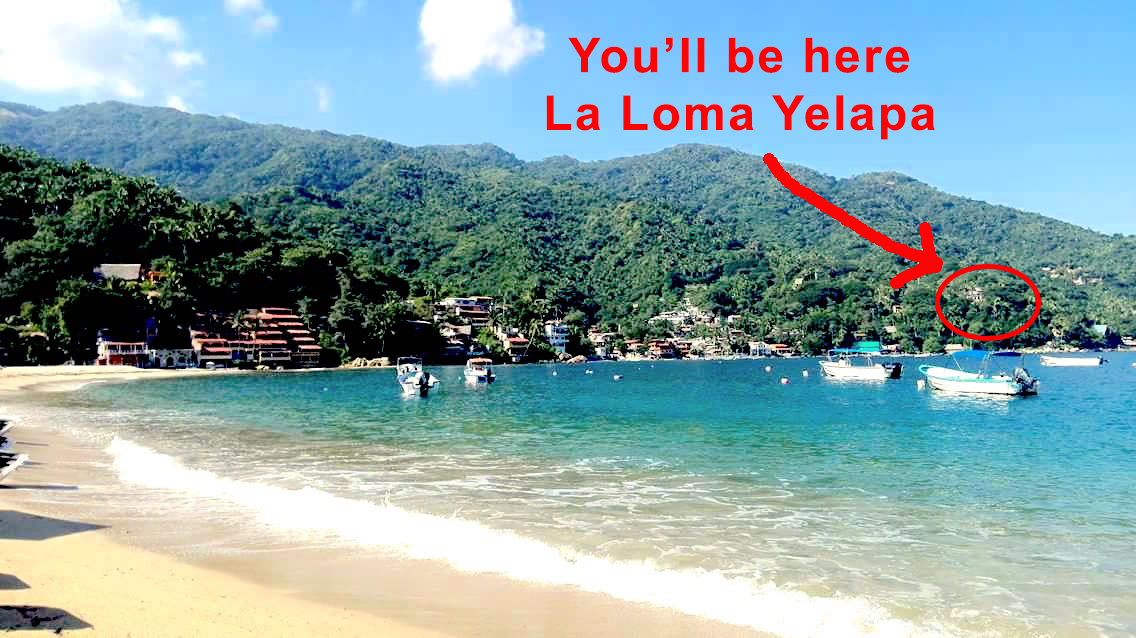 view of la loma from main beach arrow